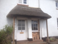 The porch showing considerable wear