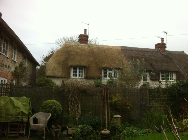 Wheat reed re-thatch, Chaffcombe
